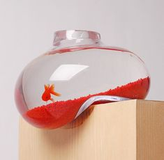 Bubble Tank by Psalt Design / Next time you look at an aquarium like the Bubble Tank by Psalt Design, you're guaranteed to stare more at the tank than the fish inside. http://thegadgetflow.com/portfolio/bubble-tank-psalt-design/
