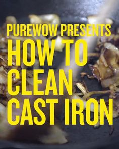 Key to Cleaning a Cast Iron Pan Here's the best way to clean your trusty cast iron skillet.Here's the best way to clean your trusty cast iron skillet. Household Cleaning Tips, Toilet Cleaning, House Cleaning Tips, Deep Cleaning, Cleaning Hacks, Household Cleaners, Cleaning Recipes, Diy Cleaners, Cleaning Solutions