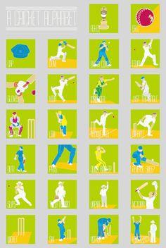 A Cricket Alphabet An Alphabet Poster by GautamRao on Etsy