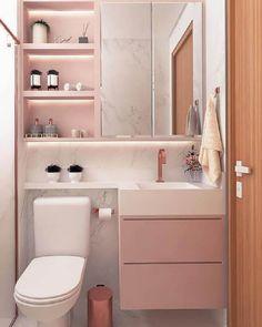 Espelheira para Banheiro: Saiba O Que É +60 Modelos Lindos para sua Decoração Washroom Design, Bathroom Design Small, Bathroom Layout, Bathroom Interior, Room Ideas Bedroom, Room Decor, Condo Decorating, Dream House Exterior, Laundry In Bathroom