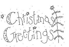 Free Christmas  pattern  I love this primitive Christmas Greeting.