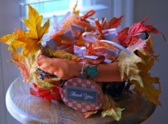 autumn baby shower favors