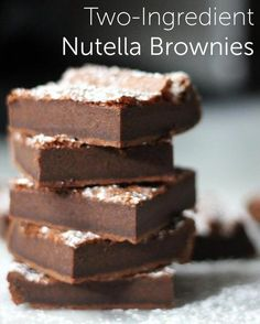 Cooking Shortcuts: Two-Ingredient Nutella Brownies!  Hurrah!  Gluten-free with Nutella :)