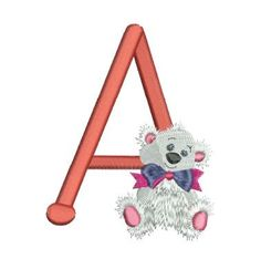 Teddy Bear Alpha Embroidery Monogram, Embroidery Designs, Scrapbook Letters, Alphabet, 4x4, Machine Embroidery, Teddy Bear, Pixies, Lettering