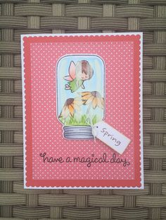 Fairy Friends and Summertime Charm stamp sets from Lawn Fawn.  Card by Mocha Frap Scrapper