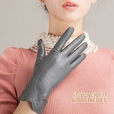 10-Colors-Women-lady-wrist-lambskin-leather-long-fleece-lined-winter-warm-Gloves