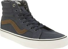 Vans Navy Sk8-hi Reissue Mens Trainers Skate slick gets a revamp for the new season as the Vans Sk8-Hi Reissue lands on the scene. The legendary lace-up arrives in durable navy fabric and features their iconic Sidestripe in brown, along wi http://www.comparestoreprices.co.uk/january-2017-8/vans-navy-sk8-hi-reissue-mens-trainers.asp
