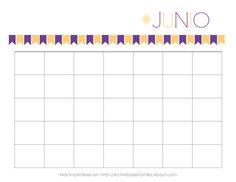 Calendarios Personalizables: Calendario de Junio