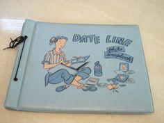 Items similar to Date Line Dateline Blue Vinyl Photo Scrapbook on Etsy Chalk Pastel Art, Chalk Pastels, Vintage Toys, Retro Vintage, Vintage Ponytail, Custom Boxes, Baby Toys, Childhood Memories, Paper Art