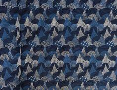 点と線模様製作所 : 森の刺繍の生地