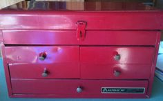 I love tool boxes for organizing crafts and jewelry!