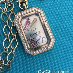 Love me some Cardinals Baseball.  New!!! MLB charms coming June 1st   www.owlchick.origamiowl.com