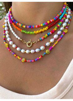 Diy Jewelry Rings, Handmade Wire Jewelry, Funky Jewelry, Hippie Jewelry, Trendy Jewelry, Cute Jewelry, Beaded Jewelry, Jewelry Accessories, Summer Bracelets