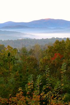 Georgia Mountains Photograph Blue Ridge Mountains Fall