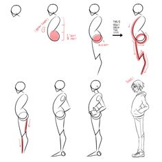 How to draw bodies in profile (the easy way) by Lily-Draws.deviantart.com on @DeviantArt