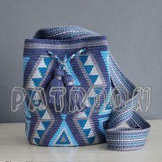 Crochet Stitches Chart, Tapestry Crochet Patterns, Bead Loom Patterns, Mochila Crochet, Crochet Bag Tutorials, Tapestry Bag, Crochet Purses, Knitted Bags, Crochet Accessories