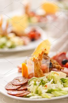 #Appetizer plate  Appetizer plate with salami shrimp and lettuce