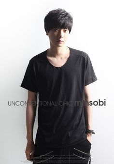 minsobi Men's basic scoop neck Tee
