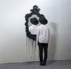 Image via We Heart It https://weheartit.com/entry/168329150 #blackandwhite #grunge #hipster #indie #mirror #theworldshero