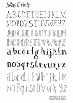 How To Hand Letter Free Bullet Journal Hand Lettering Alphabet within Handlettering Letters Bullet Journal Police, Bullet Journal Alphabet, Bullet Journal Printables, Hand Lettering Fonts, Doodle Lettering, Creative Lettering, Lettering Ideas, Typography, Bullet Journal Fonts Hand Lettering