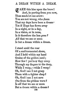 A Dream Within A Dream, Edgar Allan Poe my favorite poem of all time!