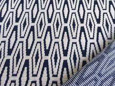 Stoff grafische Muster - Strick *Mia* dunkelblau/creme - ein Designerstück von nadel-und-stoff bei DaWanda
