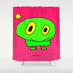 Shower curtain original shower curtain by MikitchuCreations