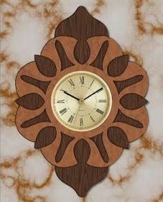 Free Scroll Saw Patterns by Arpop: Layered Clock