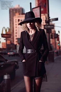 Anja Rubik by Mario Sorrenti for Vogue Paris February 2013