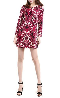 d77f670d599 SexyTown Womens Floral Print Dress Long Sleeve Casual Dresses With Pockets  Small Color 21        AMAZON BEST BUY     KoreanDresses