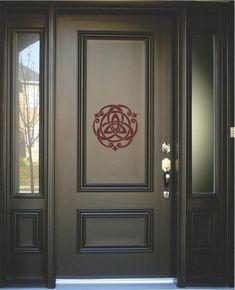 New Modern Front Door Entrance Ideas Frosted Glass 37 Ideas Brown Front Doors, Modern Front Door, Front Door Entrance, Painted Front Doors, Glass Front Door, Main Entrance, Glass Doors, Main Door Design, Front Door Design