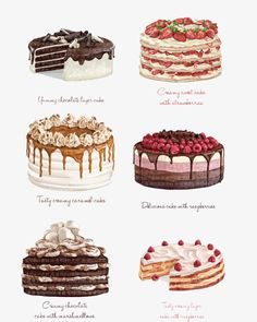 Watercolor cake- Aquarell Kuchen Watercolor cake Free PNG and Clipart - Food Design, Desserts Drawing, Cute Food Art, Dessert Illustration, Cute Food Drawings, Cake Drawing, Food Sketch, Watercolor Cake, Food Painting
