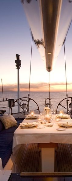 A Fine Romance ~ Share sunset dinner aboard a yacht with friends and someone special.