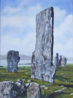 Standing stones (Orkney) - oil on canvas