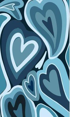 Stripe Iphone Wallpaper, Baby Blue Wallpaper, Iphone Wallpaper Themes, Simple Iphone Wallpaper, Hippie Wallpaper, Mood Wallpaper, Cute Patterns Wallpaper, Heart Wallpaper, Blue Wallpapers