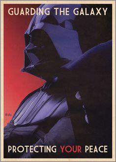 Star Wars propaganda posters by Russell Walks