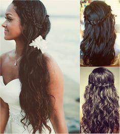 long black braided headband for black women wedding with long wavy human hair extension
