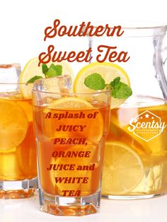 A splash of juicy peach, orange juice and white tea. Available in scented wax, room spray and scent circles. Southern Sweet Tea, Candle Making Business, Scented Wax, Peach Orange, Orange Juice, Home Decor, Wax Room, Scentsy Bar, Beverages