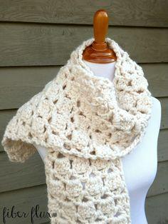 Fiber Flux: Free Crochet Pattern...Sugar Cookie Scarf!