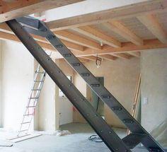 escalier garde-corps rampe métal brut vendée la roche sur yon