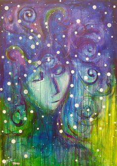Third eye chakra art painting