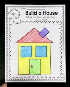 Shape Activities Kindergarten, Shape Worksheets For Preschool, 2d Shapes Activities, Shapes Worksheets, Learning Shapes, Kindergarten Worksheets, Kids Learning, Shapes For Kids, Infant Activities
