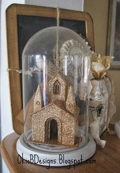 christmas cloche with walmart church ornament