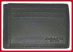 COACH SLIM CARD CASE IN CROSSGRAIN LEATHER, F74983, BLACK - Wristlets (*Amazon Partner-Link)
