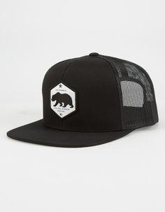RIP CURL California Highway Mens Trucker Hat - BLACK - CCAGL7 bc30fa0335c3