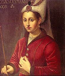"""""""Roxelana""""  Her Imperial Highness Haseki Hürrem Sultan, Imperial Princess Consort of Süleyman the Magnificent of the Ottoman Empire.  16th century oil painting."""