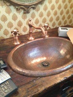 Copper Sink for powder room