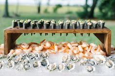 20 Raw Bars Perfect for Your Summer Wedding This year a wedding trend has been a raw bar with oysters, sushi, and shrimp. We have combines 20 raw bar inspirational food ideas for your wedding day. Your guests will love this cool reception appetizer! Wedding Catering Near Me, Wedding Reception Food, Wedding Blog, Wedding Venues, Gown Wedding, Wedding Food Displays, Wedding Food Bar Ideas, Unique Wedding Food, Wedding Vows