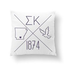 Sigma Kappa Pillow AND insert personalized with YOUR city and state! Choose from a cute 10 pillow or cozy 16 throw pillow.    How to order: When