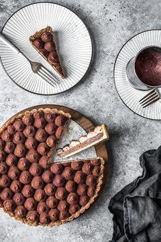 Chocolate Coffee Mascarpone Tart – The Floured Table - Tarte Tart Recipes, Sweet Recipes, Baking Recipes, Dessert Recipes, Curry Recipes, Just Desserts, Delicious Desserts, Yummy Food, Oreo Desserts